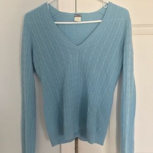 J CREW 100% Cashmere V-Neck Sweater
